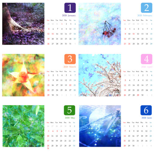 【終了しました】2020年フォトカレンダー、今年は2パターン販売します